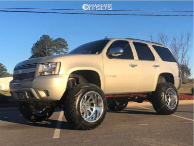 """2007 Chevrolet Tahoe - 22x14 -76mm - American Force Octane Ss - Suspension Lift 7.5"""" - 37"""" x 13.5"""""""