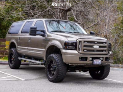 """2005 Ford Excursion - 20x10 -24mm - TXW Offroad T-001 - Suspension Lift 6"""" - 37"""" x 12.5"""""""