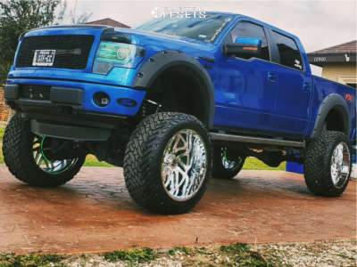 """2013 Ford F-150 - 26x14 -76mm - TIS 544c - Lifted >12"""" - 40"""" x 15.5"""""""