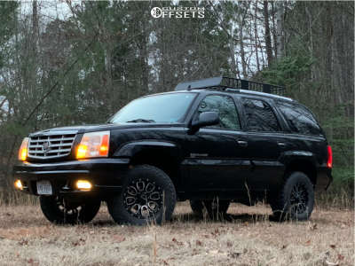 """2006 Cadillac Escalade - 17x9 -12mm - Helo He879 - Suspension Lift 3"""" - 305/65R17"""