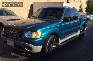 2001 Ford Explorer Sport Trac - 20x9 0mm - TIS 534B - Stock Suspension - 275/45R20
