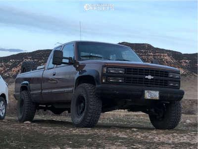 "1990 Chevrolet K2500 - 16x8 -5mm - Alloy Ion 171 - Leveling Kit - 35"" x 12.5"""