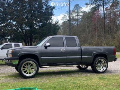 "2004 Chevrolet Silverado 1500 - 24x12 -40mm - American Force Octane Ss - Suspension Lift 7"" - 35"" x 12.5"""
