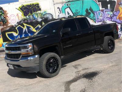 2018 Chevrolet Silverado 1500 - 20x10 -25mm - ARKON OFF-ROAD Caesar - Leveling Kit - 275/60R20