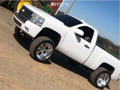 "2008 Chevrolet Silverado 1500 - 22x12 -51mm - Fuel Forged Ff12 - Suspension Lift 7"" - 305/45R22"