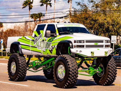 """1996 Chevrolet C3500 - 20x14 -73mm - American Force Fallout Fp - Lifted >12"""" - 54"""" x 16.5"""""""