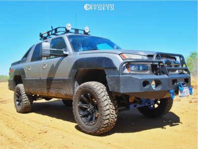 "2002 Chevrolet Avalanche - 20x9 -12mm - Ballistic Jester - Suspension Lift 6"" - 35"" x 12.5"""