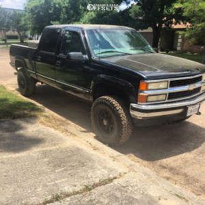 "1999 Chevrolet K2500 - 16x8 10mm - American Outlaw Buckshot - Body Lift 3"" - 285/75R16"