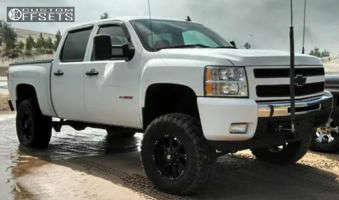 "2007 Chevrolet Silverado 1500 - 18x9 -12mm - Ballistic Morax - Suspension Lift 6.5"" - 35"" x 12.5"""
