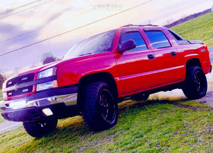 """2003 Chevrolet Avalanche 1500 - 20x10 -19mm - Monster Offroad M17 - Leveling Kit - 33"""" x 12.5"""""""
