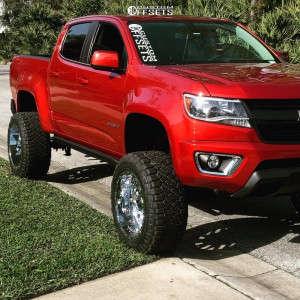 "2015 Chevrolet Colorado - 20x12 -44mm - TIS 544c - Suspension Lift 7.5"" - 33"" x 12.5"""