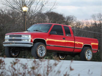 "1997 Chevrolet C1500 - 20x12 -51mm - Vision Spyder - Suspension Lift 4"" - 305/50R20"