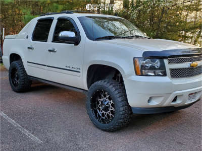 """2013 Chevrolet Avalanche - 20x10 -12mm - Off Road Monster M14 - Suspension Lift 3.5"""" - 33"""" x 12.5"""""""