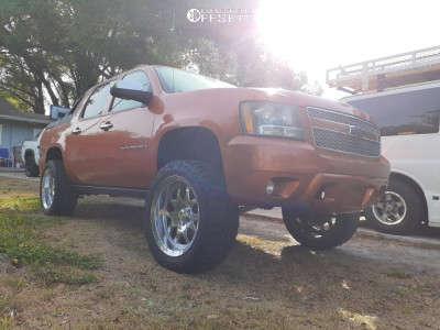 """2008 Chevrolet Avalanche - 22x10 -24mm - RBP 64r - Suspension Lift 3.5"""" - 35"""" x 12.5"""""""