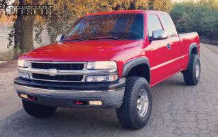 2002 Chevrolet Silverado 1500 - 16x10 -24mm - American Eagle 186 - Leveling Kit - 285/75R16
