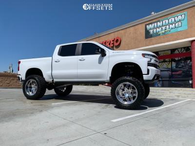 """2019 Chevrolet Silverado 1500 - 24x12 -44mm - Forgiato Quadrato - Suspension Lift 12"""" - 40"""" x 15.5"""""""