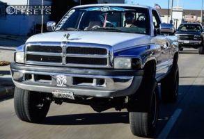 "1997 Dodge Ram 1500 - 16x7 -13mm - Black Rock 997 - Suspension Lift 5"" - 35"" x 12.5"""