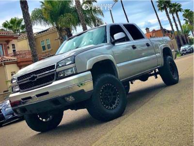 """2006 Chevrolet Silverado 1500 HD - 17x8.5 0mm - Method Nv - Suspension Lift 6"""" - 35"""" x 12.5"""""""