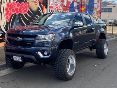 "2018 Chevrolet Colorado - 20x12 -55mm - Fuel Forged Ff26 - Suspension Lift 6"" - 275/55R20"
