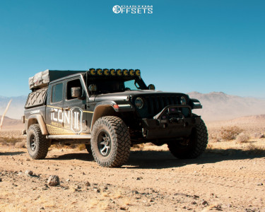 "2020 Jeep Gladiator - 17x8.5 -6mm - Icon Alloys Rebound - Suspension Lift 3"" - 37"" x 12.5"""