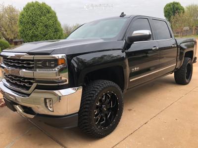 "2016 Chevrolet 1500 - 20x9 -12mm - Ultra Hunter - Leveling Kit - 33"" x 12.5"""