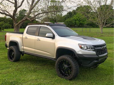 "2018 Chevrolet Colorado - 20x10 -24mm - Moto Metal Mo970 - Leveling Kit - 33"" x 12.5"""