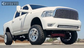 """2009 Ram 1500 - 20x14 -74mm - American Force Octanes - Suspension Lift 8"""" - 305/55R20"""