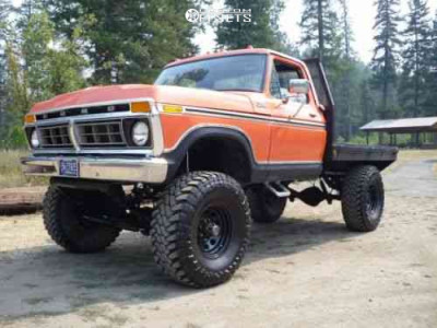 """1977 Ford F-250 - 16x8 -6mm - Pro Comp Series 51 - Lifted >12"""" - 385/70R16"""