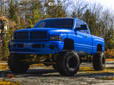 "1999 Dodge Ram 1500 - 15x14 -92mm - Bart Super Trucker - Suspension Lift 7.5"" - 35"" x 14.5"""