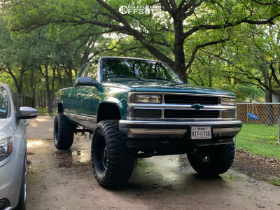 "1997 Chevrolet K1500 - 20x10 -12mm - Steel Off-road Sd110 - Suspension Lift 6"" - 375/55R20"