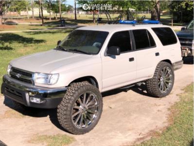 "2000 Toyota 4Runner - 24x9.5 38mm - Velocity Vw12b - Suspension Lift 3"" - 35"" x 12.5"""
