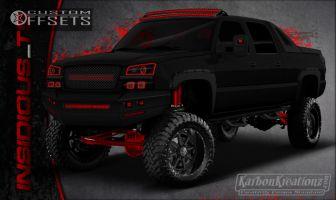"""2003 Chevrolet Avalanche - 17x9 -12mm - XD Spy - Leveling Kit & Body Lift - 35"""" x 12.5"""""""