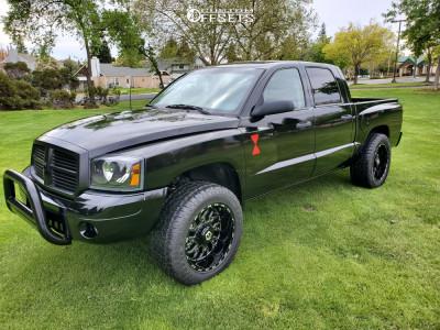 """2007 Dodge Dakota - 20x12 -44mm - TIS 544bm - Suspension Lift 2.5"""" - 33"""" x 12.5"""""""