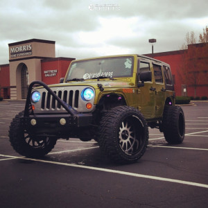 "2010 Jeep Wrangler JK - 22x12 -44mm - Off Road Monster M17 - Suspension Lift 2.5"" - 35"" x 12.5"""