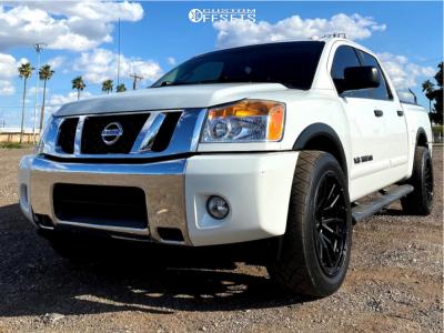 "2015 Nissan Titan - 22x10 -13mm - Fuel Rebel - Level 2"" Drop Rear - 305/45R22"