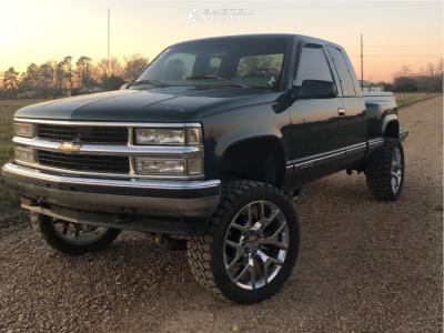 "1997 Chevrolet K1500 - 22x9 31mm - OE Revolution G04 - Suspension Lift 6"" - 33"" x 12.5"""