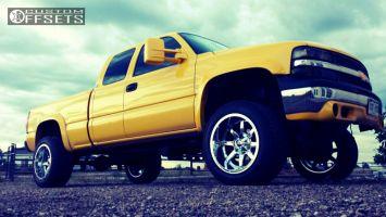 "2002 Chevrolet Silverado 1500 - 20x12 -44mm - Fuel Maverick - Suspension Lift 4"" - 305/50R20"