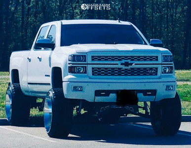 "2014 Chevrolet Silverado 1500 - 26x14 -76mm - Hardcore Offroad Hc15 - Suspension Lift 9"" - 35"" x 13.5"""