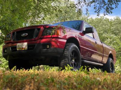 2006 Ford Ranger - 17x9 -6mm - Mayhem Prodigy - Leveling Kit - 265/65R17