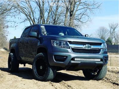 2019 Chevrolet Colorado - 20x10 -24mm - Anthem Off-Road Instigator - Leveling Kit - 275/55R20