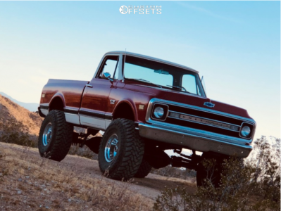 "1969 Chevrolet C10 Pickup - 16x12 -50mm - Mickey Thompson Classic Iii - Suspension Lift 10"" - 385/70R16"
