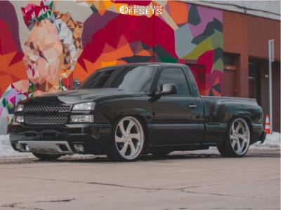 2004 Chevrolet Silverado 1500 - 24x10.5 31mm - Intro Rally Twist - Lowered 5F / 7R - 275/30R24