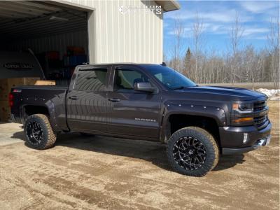 "2016 Chevrolet 1500 - 20x12 -44mm - TIS 544bm - Suspension Lift 3.5"" - 295/55R20"
