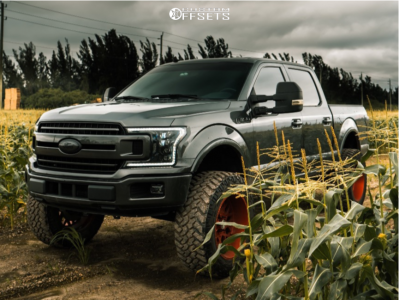 """2018 Ford F-150 - 22x12 -44mm - Xf Forged Xfx-307 - Suspension Lift 5"""" - 37"""" x 13.5"""""""