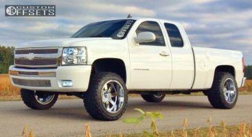 "2011 Chevrolet Silverado 1500 - 20x12 -44mm - Moto Metal MO962 - Suspension Lift 4.5"" - 33"" x 12.5"""