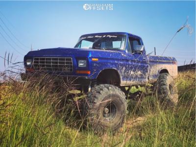"""1979 Ford F-150 - 15x12 -80mm - Bart Super Trucker - Suspension Lift 9"""" - 44"""" x 18.5"""""""