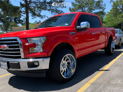 """2017 Ford F-150 - 22x12 -44mm - Xtreme Force Xf8 - Suspension Lift 2.5"""" - 305/45R22"""