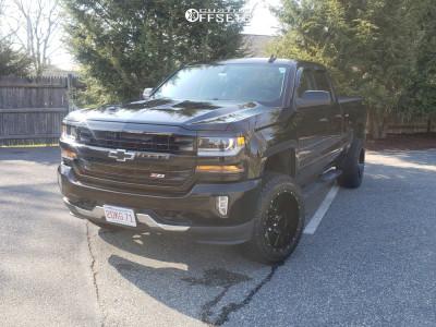 "2016 Chevrolet 1500 - 20x12 -44mm - Gear Off-Road Wrath - Suspension Lift 3.5"" - 33"" x 12.5"""