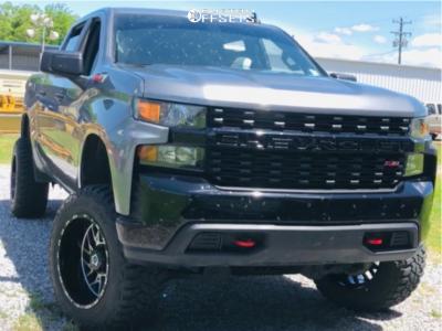 """2020 Chevrolet Silverado 1500 - 20x12 -44mm - TIS 544mb - Suspension Lift 5"""" - 35"""" x 12.5"""""""