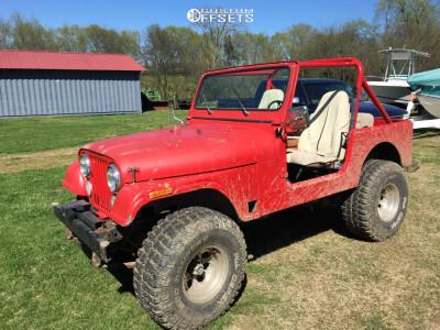 1985 Jeep CJ7 - 16x10 -25mm - Mickey Thompson Classic Iii - Leveling Kit - 315/75R16